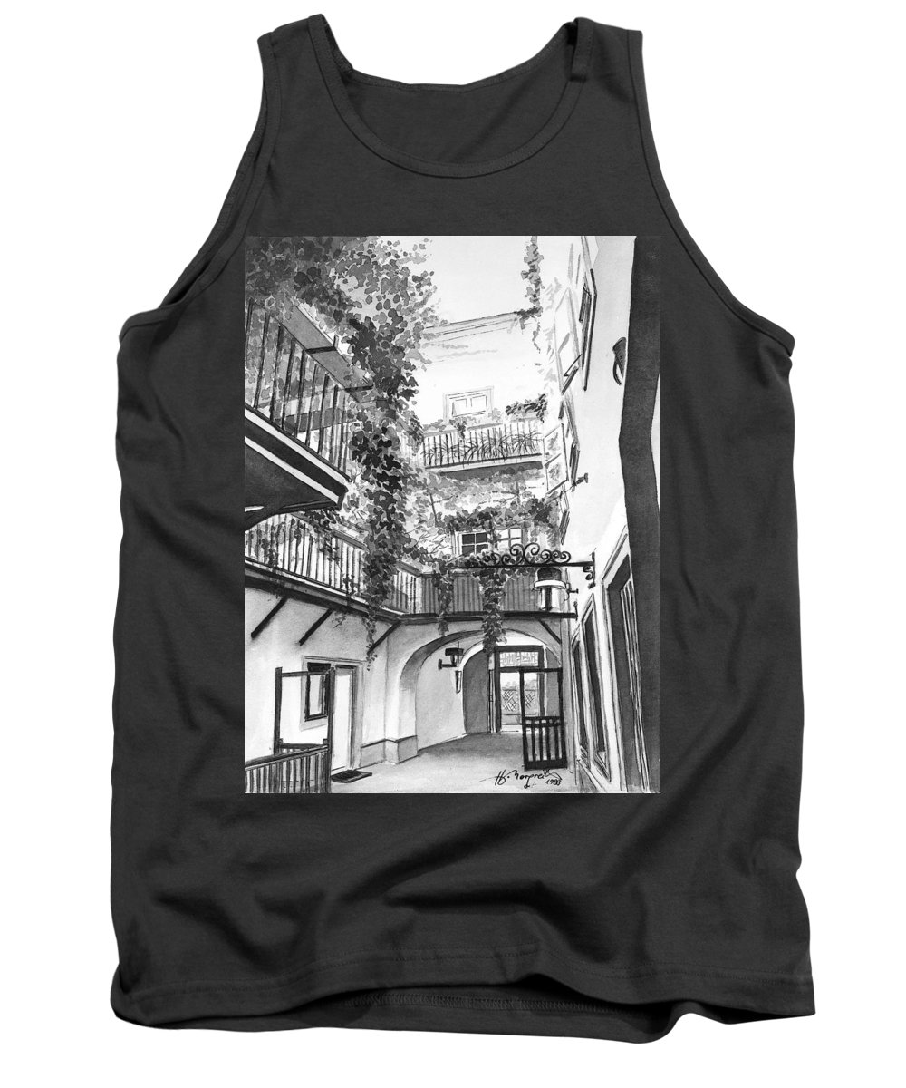Evy Tank Top featuring the painting Old Viennese Courtyard by Johannes Margreiter