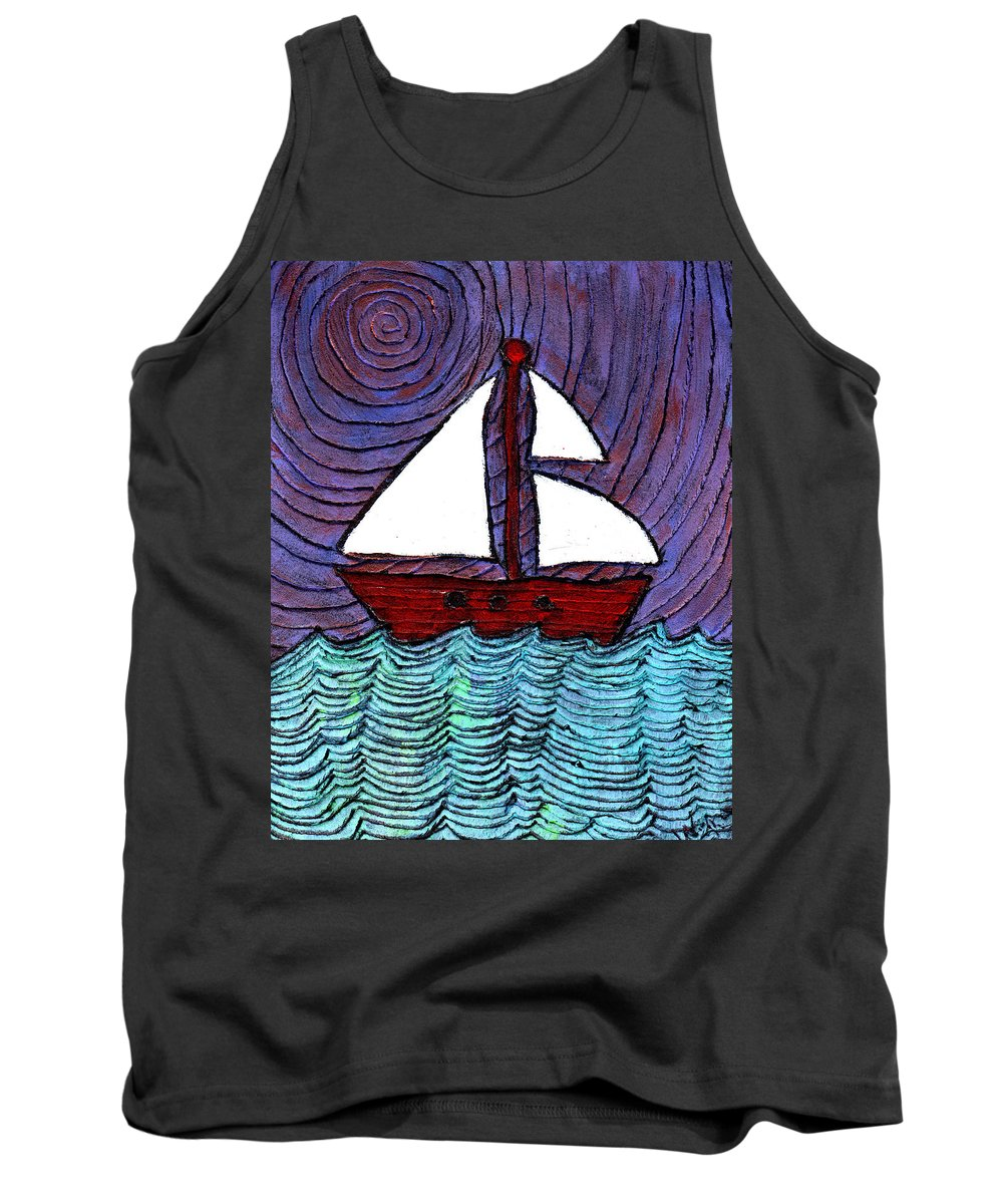 River Tank Top featuring the painting On The River by Wayne Potrafka