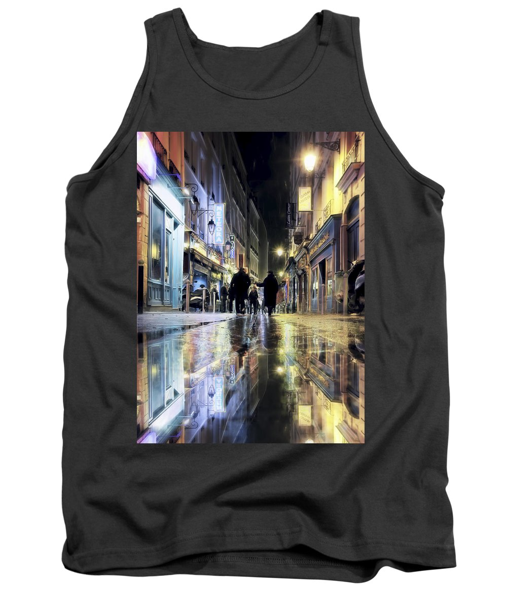 Evie Tank Top featuring the photograph Paris In The Rain by Evie Carrier