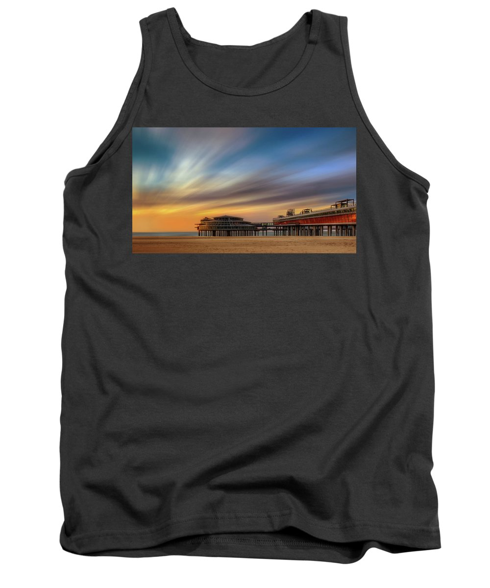 Long Exposure Tank Top featuring the photograph Pier by Vincent Ferooz
