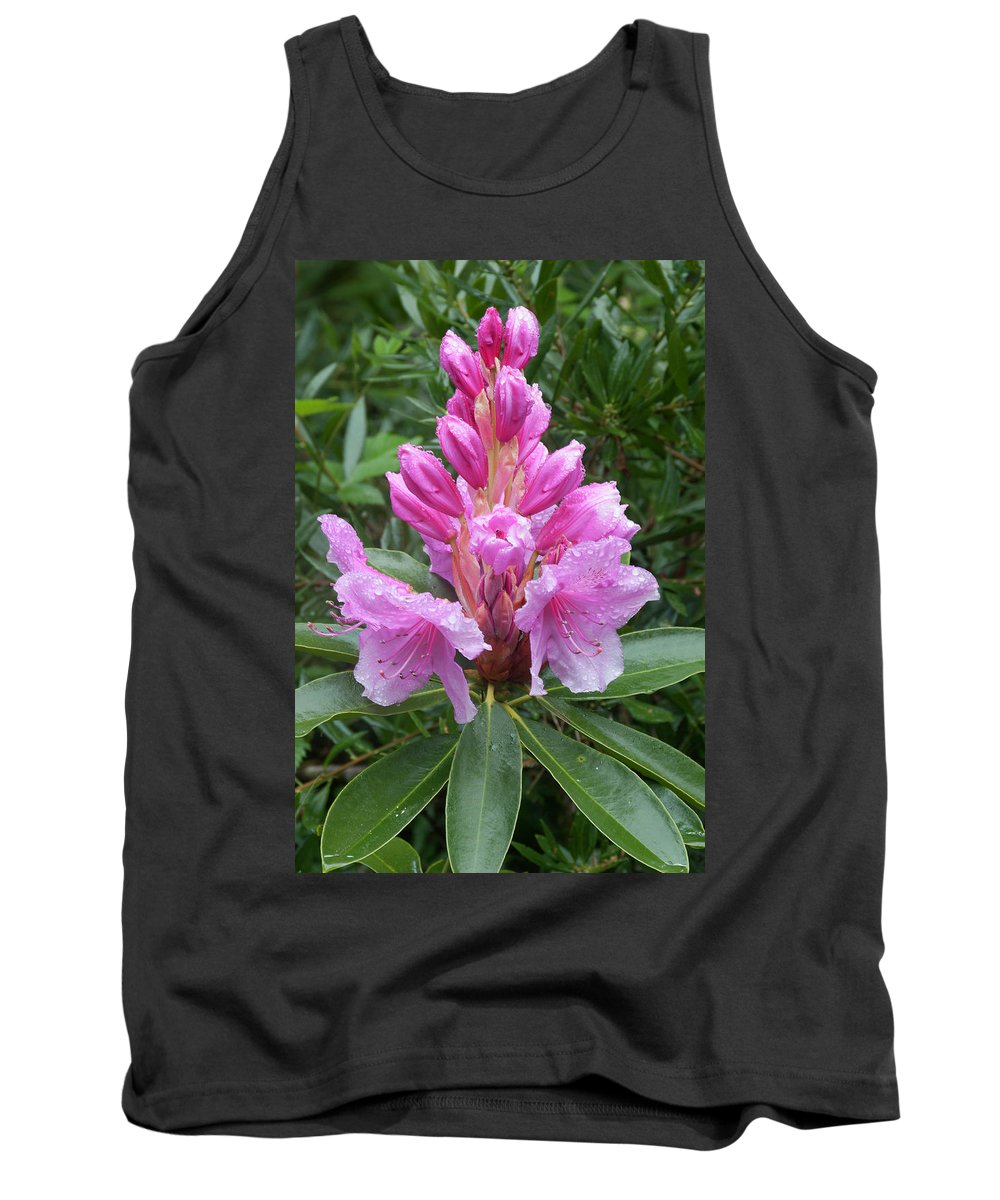 Pink Tank Top featuring the photograph Pink Rhododendron 0070 by Bob Neiman