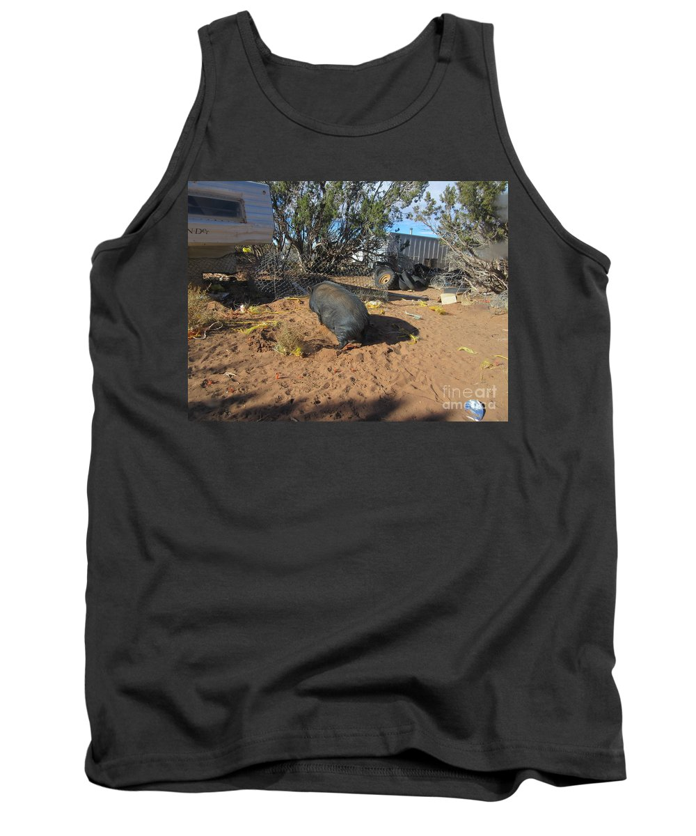 Pot-bellied Tank Top featuring the photograph Pot-bellied Pig by Frederick Holiday