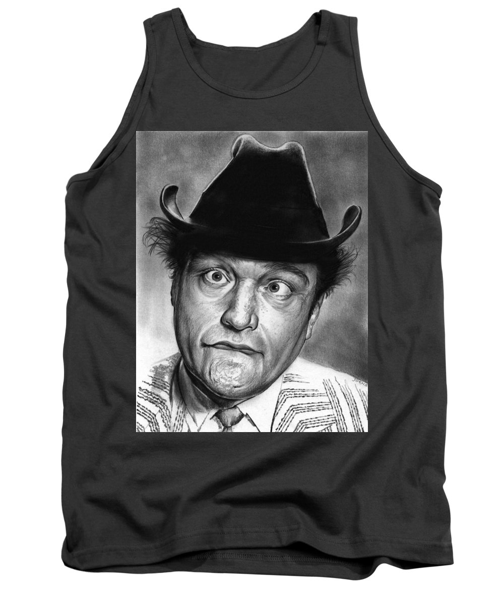 Celebrity Tank Top featuring the drawing Red Skelton by Greg Joens