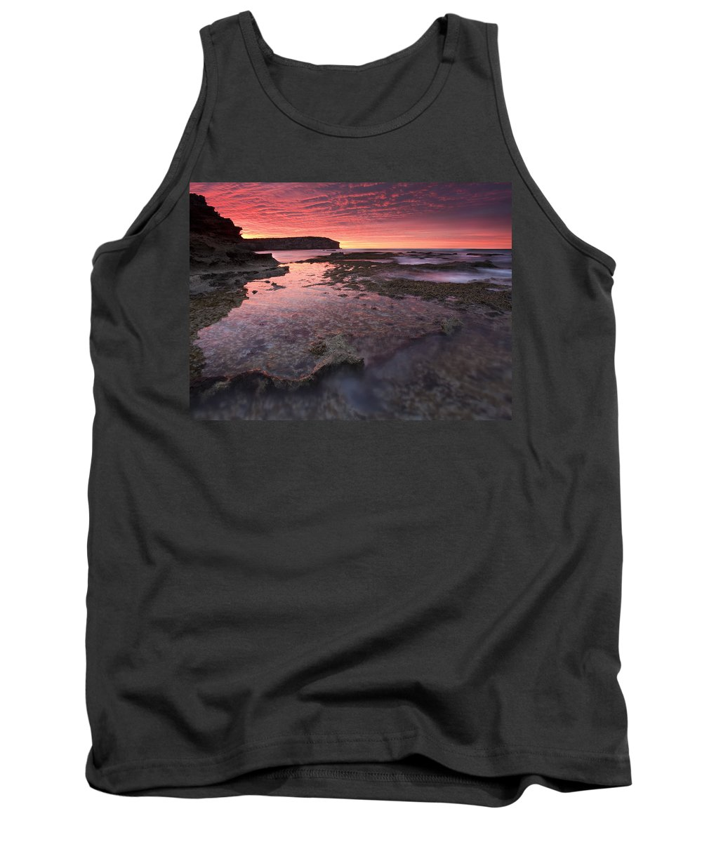 Sunrise Tank Top featuring the photograph Red Sky At Morning by Mike Dawson