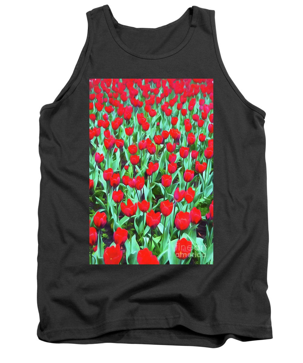 Red Tulips Tank Top featuring the photograph Red tulips by Sheila Smart Fine Art Photography