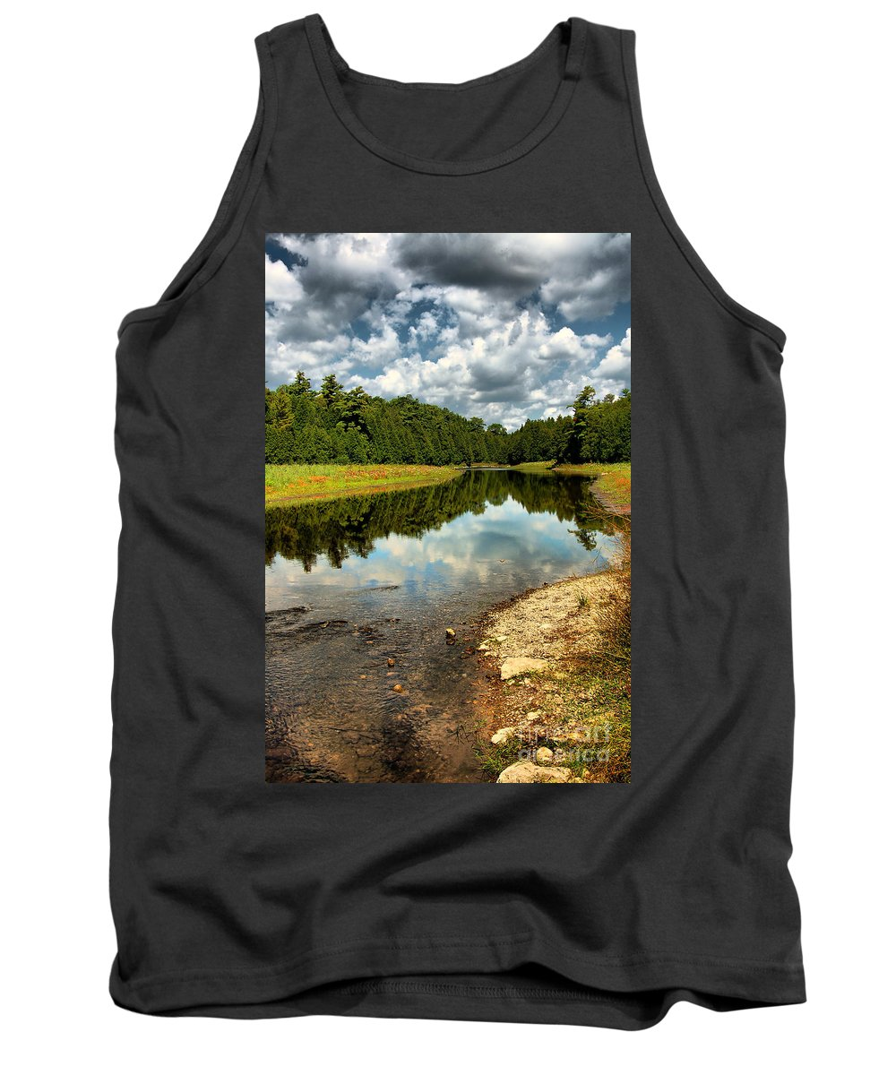 Beauty Tank Top featuring the photograph Reflection Of Nature by Joe Ng