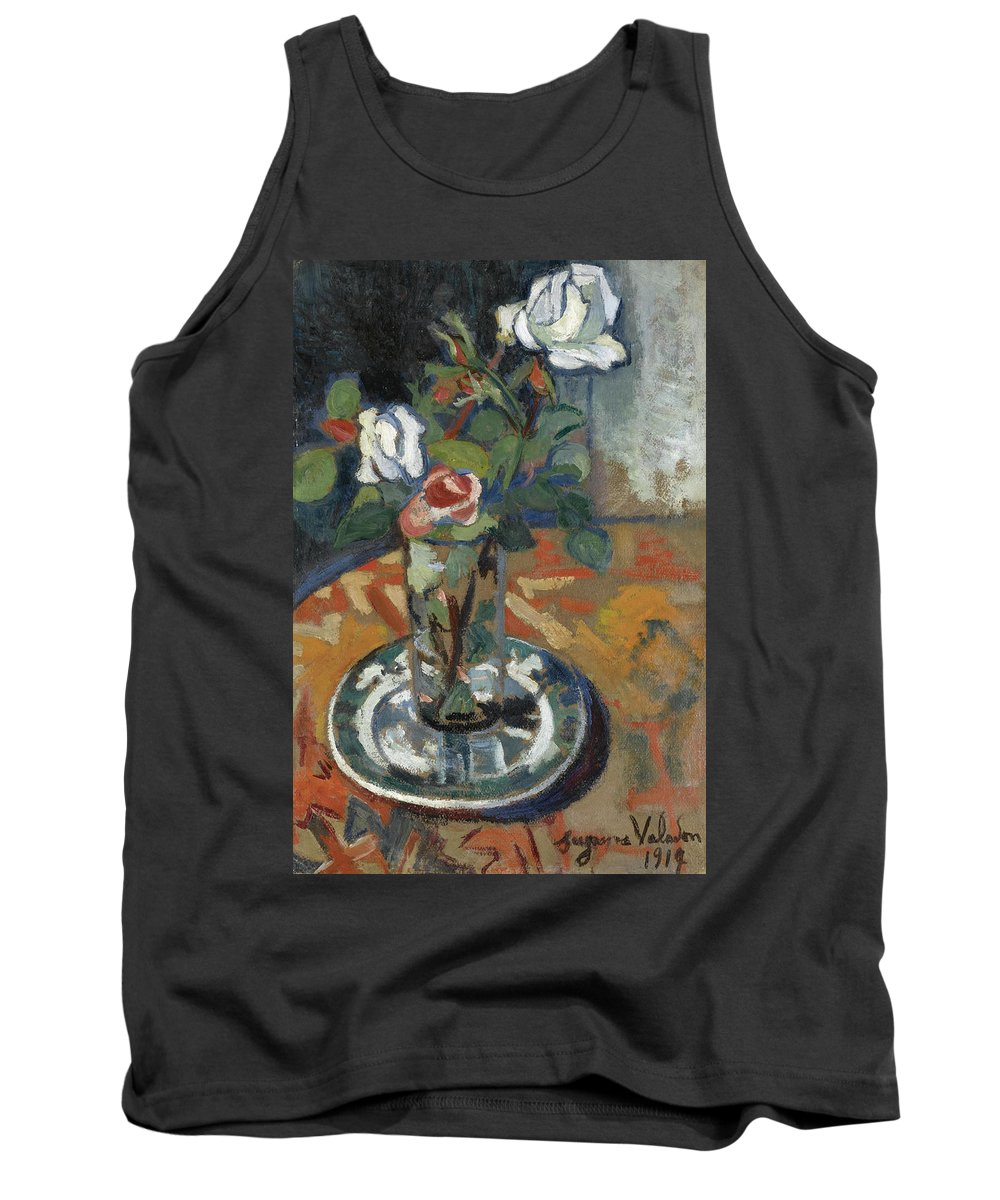 Suzanne Tank Top featuring the painting Roses In A Vase by Suzanne Valadon