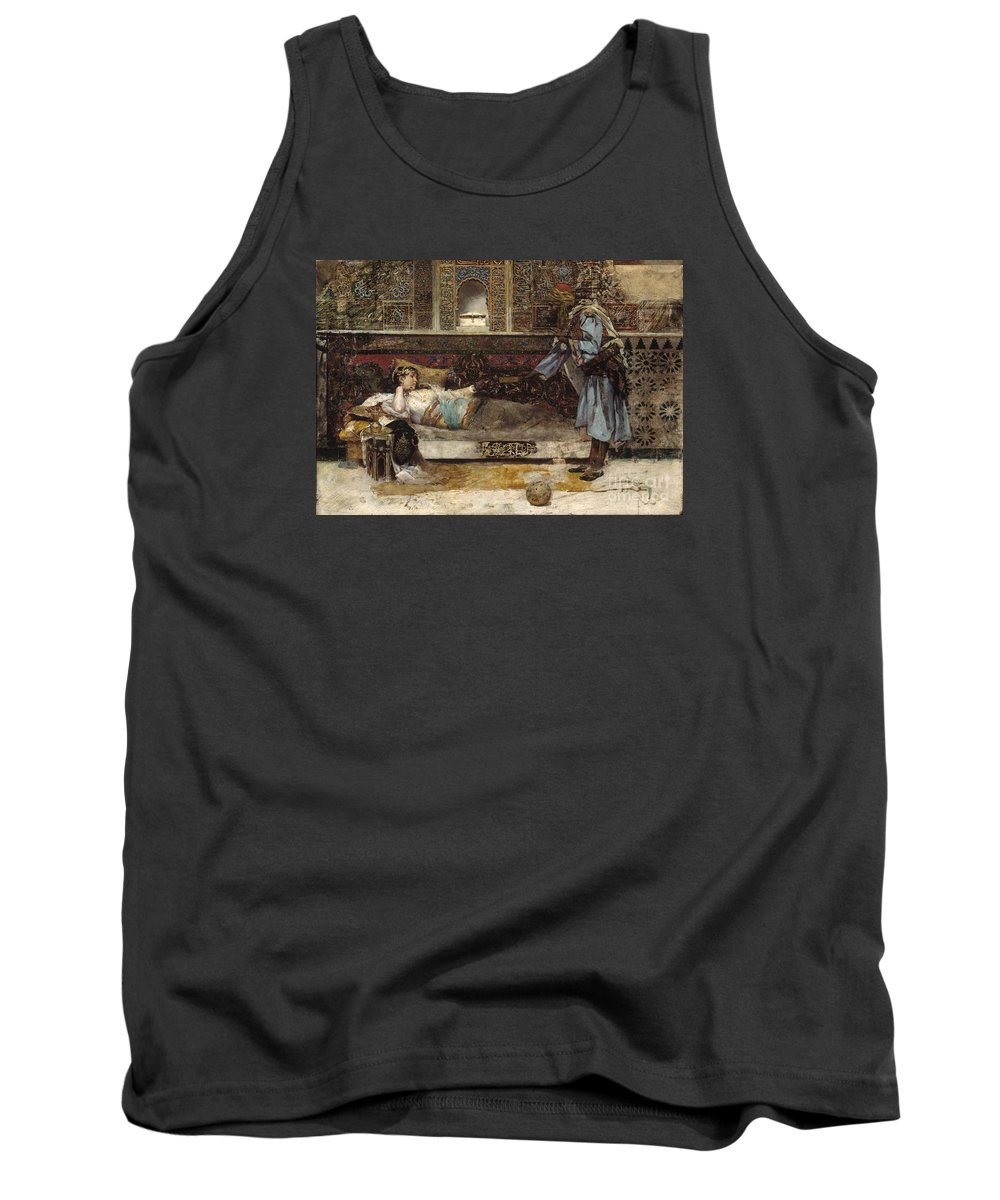 Fabres Costa Tank Top featuring the painting Sleeping Beauty by Celestial Images
