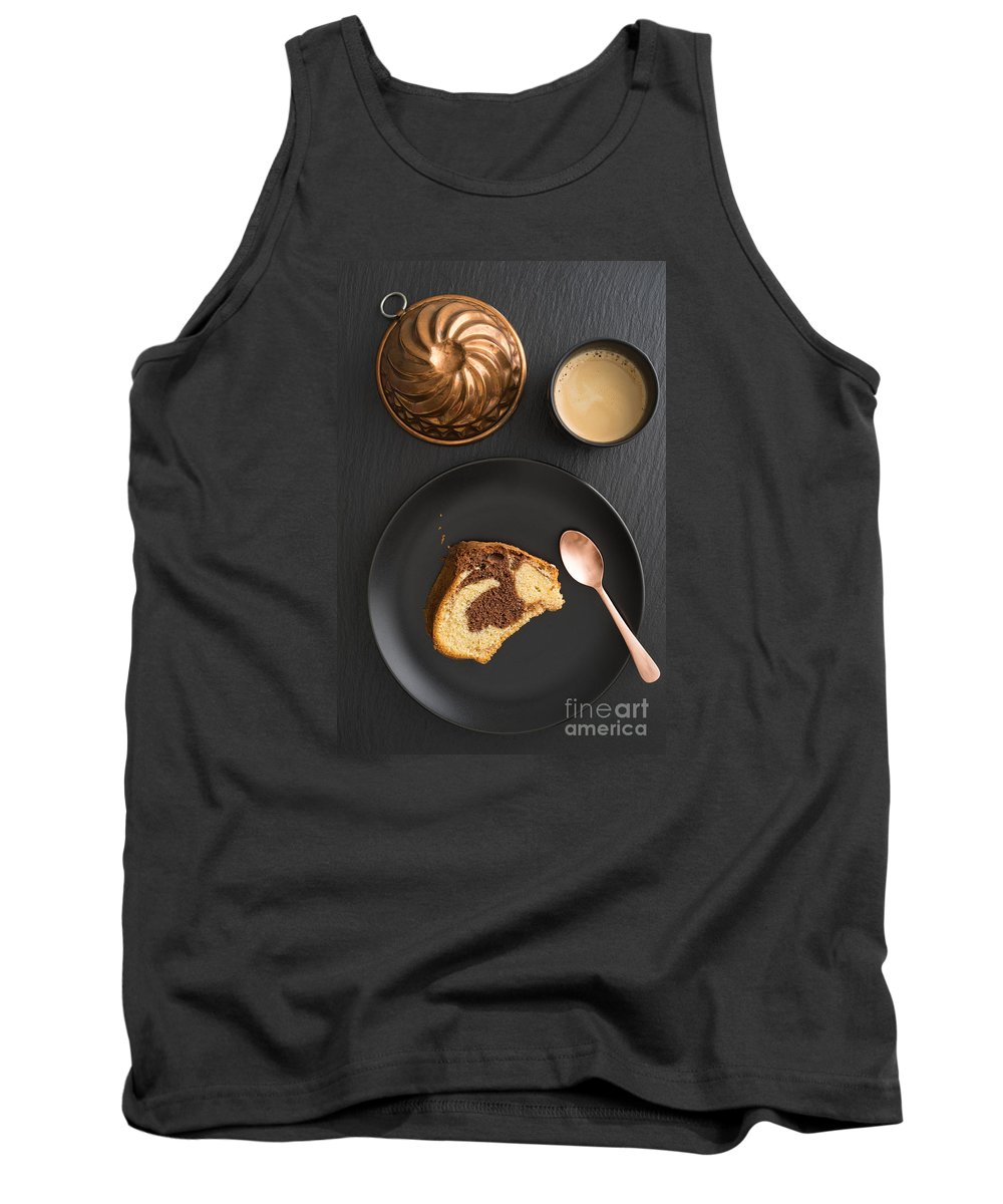 Marble Cake Tank Top featuring the photograph Slice Of Marble Cake by Elisabeth Coelfen