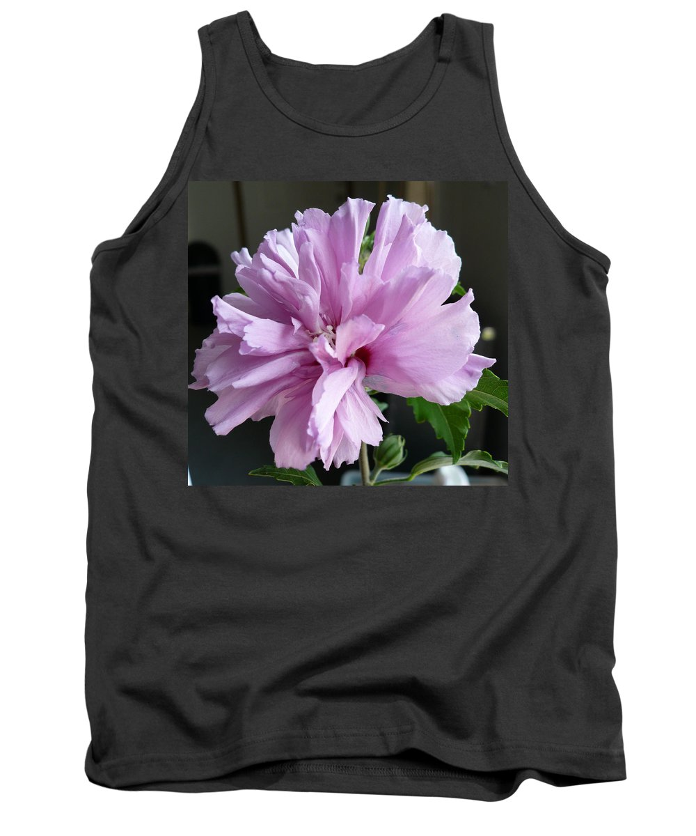 Phoyography.hibiscus Flower Floral Bloom Bush Pink Tank Top featuring the photograph So Pink by Karin Dawn Kelshall- Best
