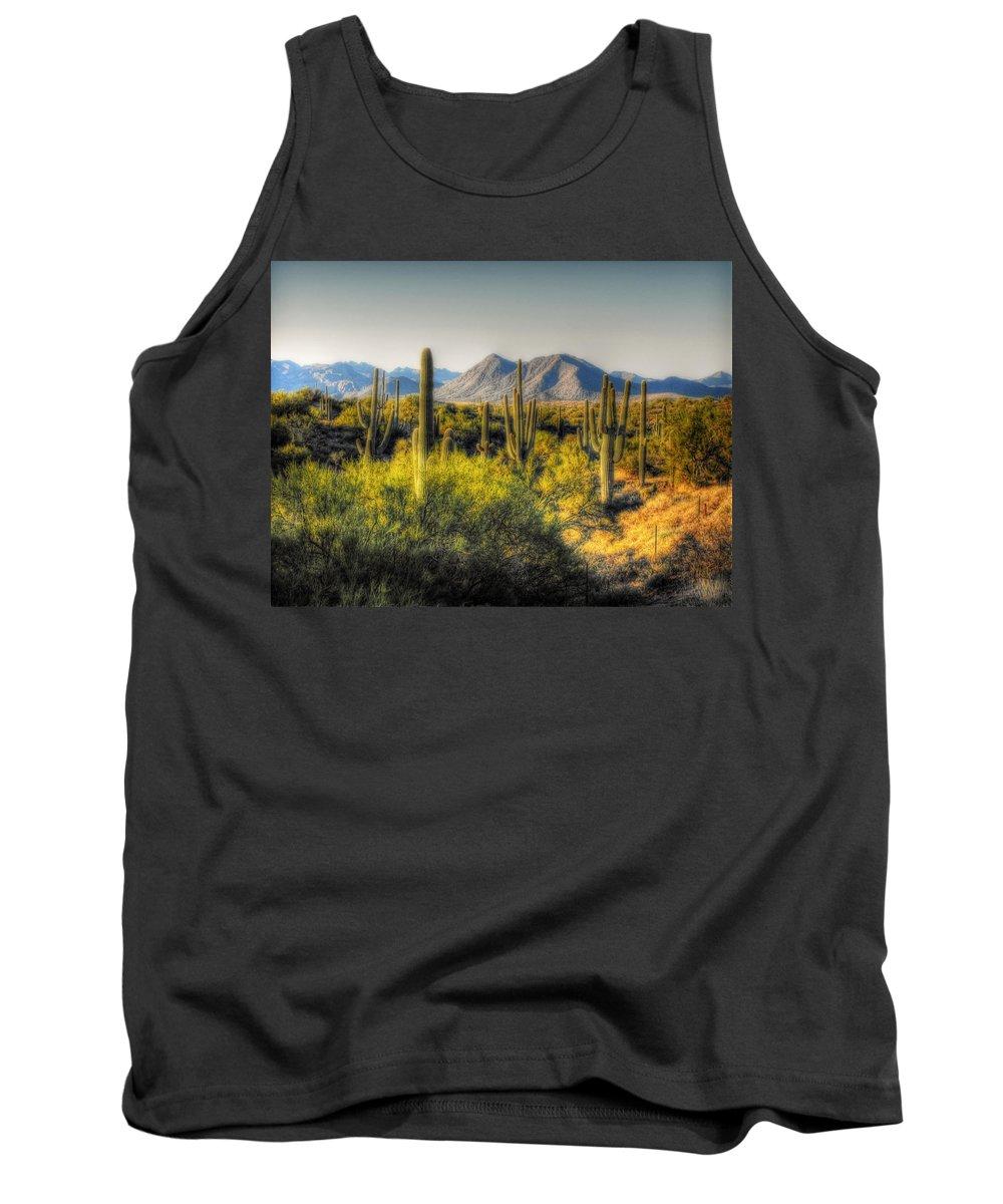 Arizona Tank Top featuring the photograph Sonoran Desert by Saija Lehtonen