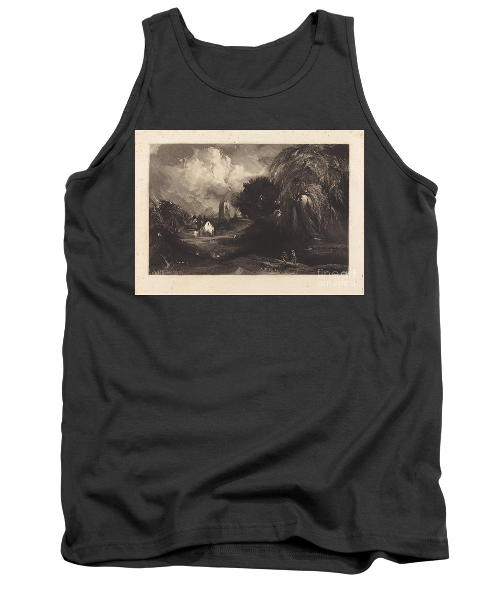 Tank Top featuring the drawing Stoke-by-neyland by David Lucas After John Constable