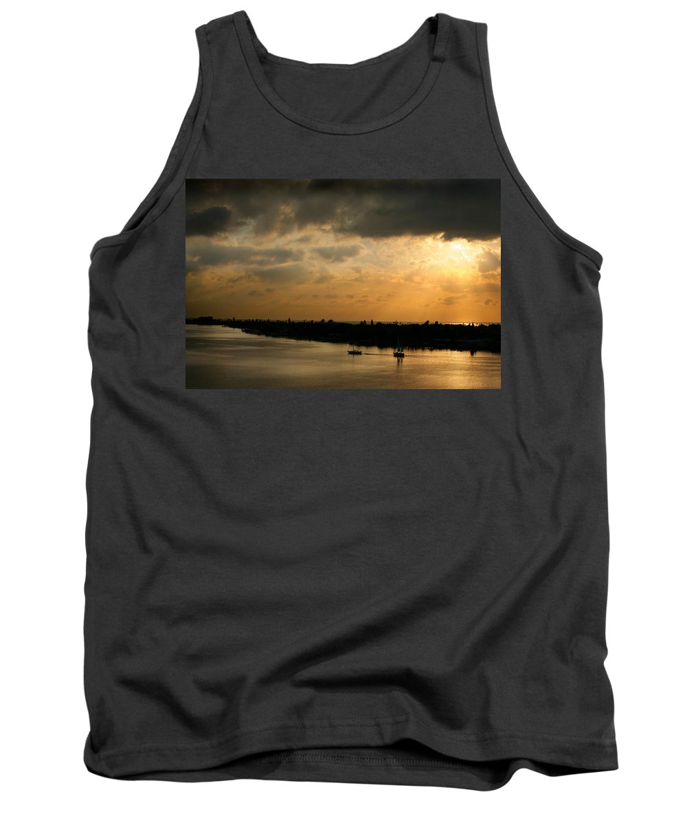 Photograph Tank Top featuring the photograph Sunset At Pass A Grille Florida by Mal Bray