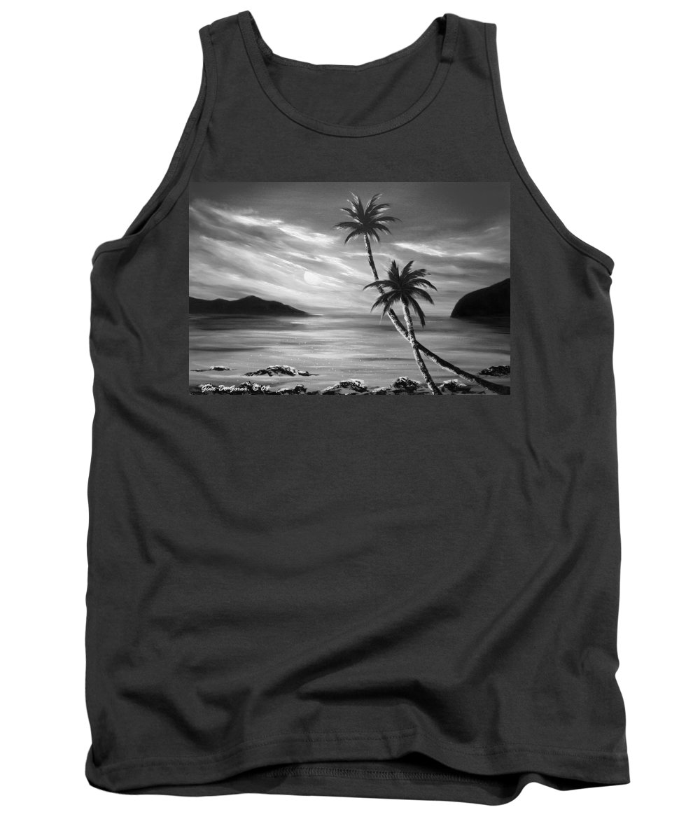 Sunset Tank Top featuring the painting Sunset In Paradise by Gina De Gorna