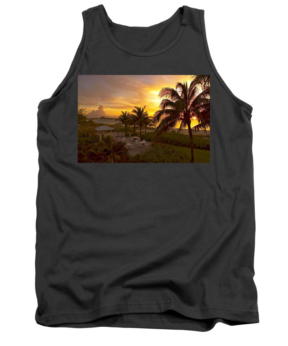 Sunset Tank Top featuring the photograph Sunset On Grace Bay by Stephen Anderson