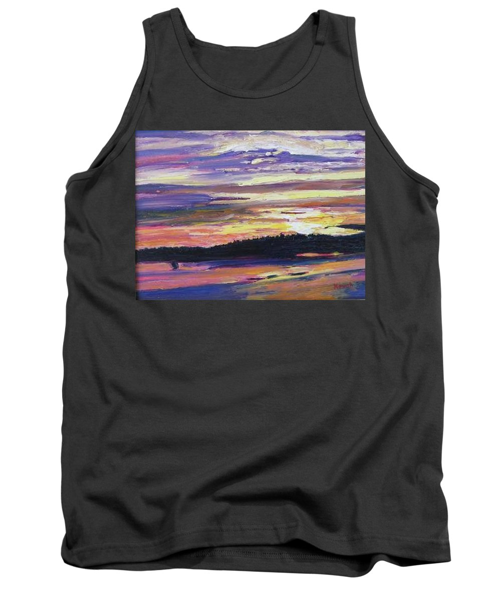 Sunset Tank Top featuring the painting Sunset by Richard Nowak