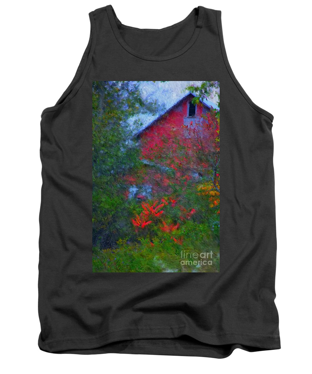 Digital Photo Tank Top featuring the photograph The Barn by David Lane
