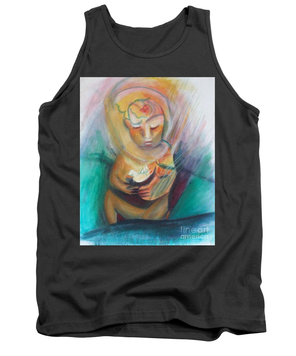 Acrylic Tank Top featuring the painting The Birth Of Peace by Johnny Vaughn