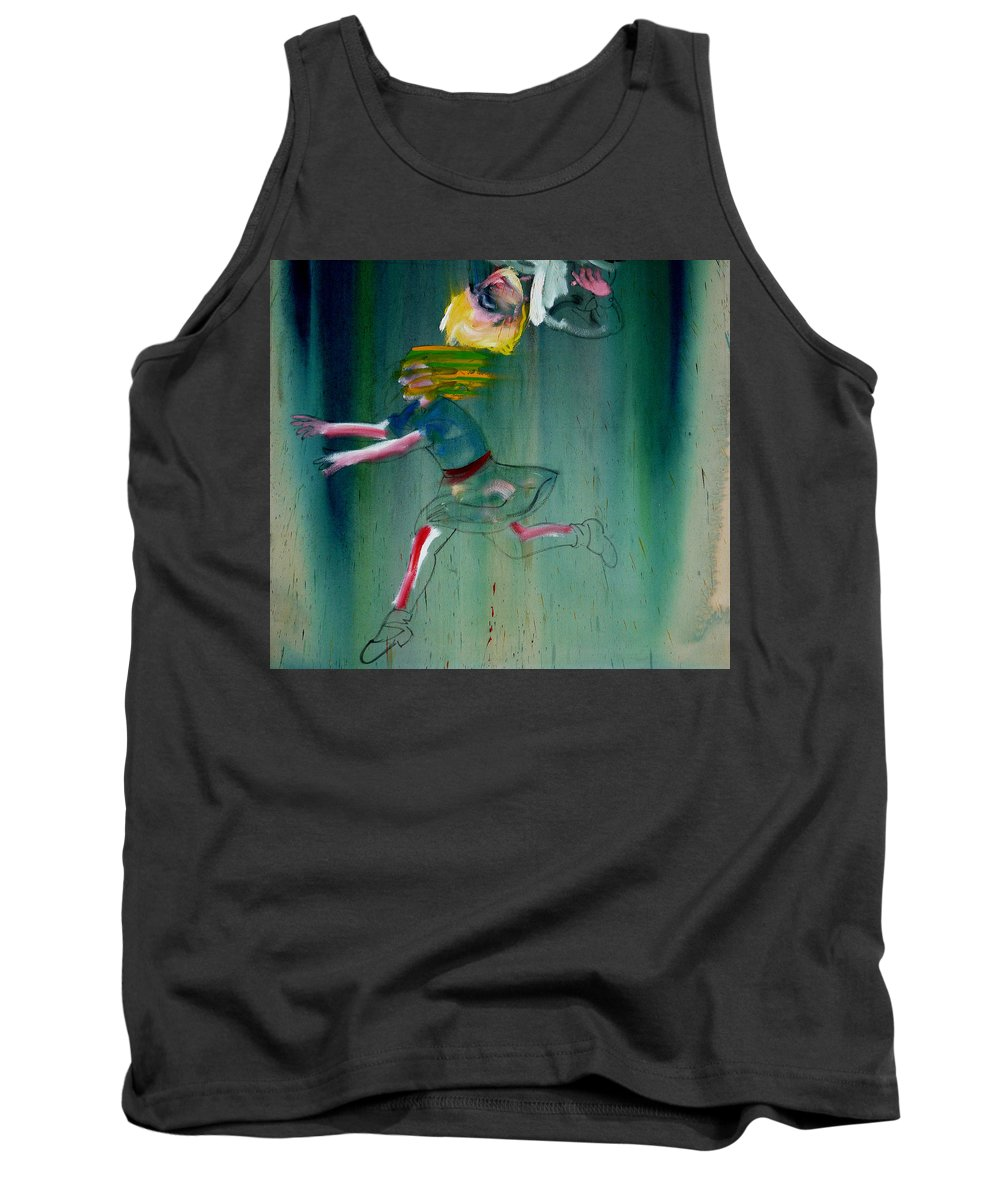 Fall Tank Top featuring the painting The Fruit Machine Stops Detail by Charles Stuart