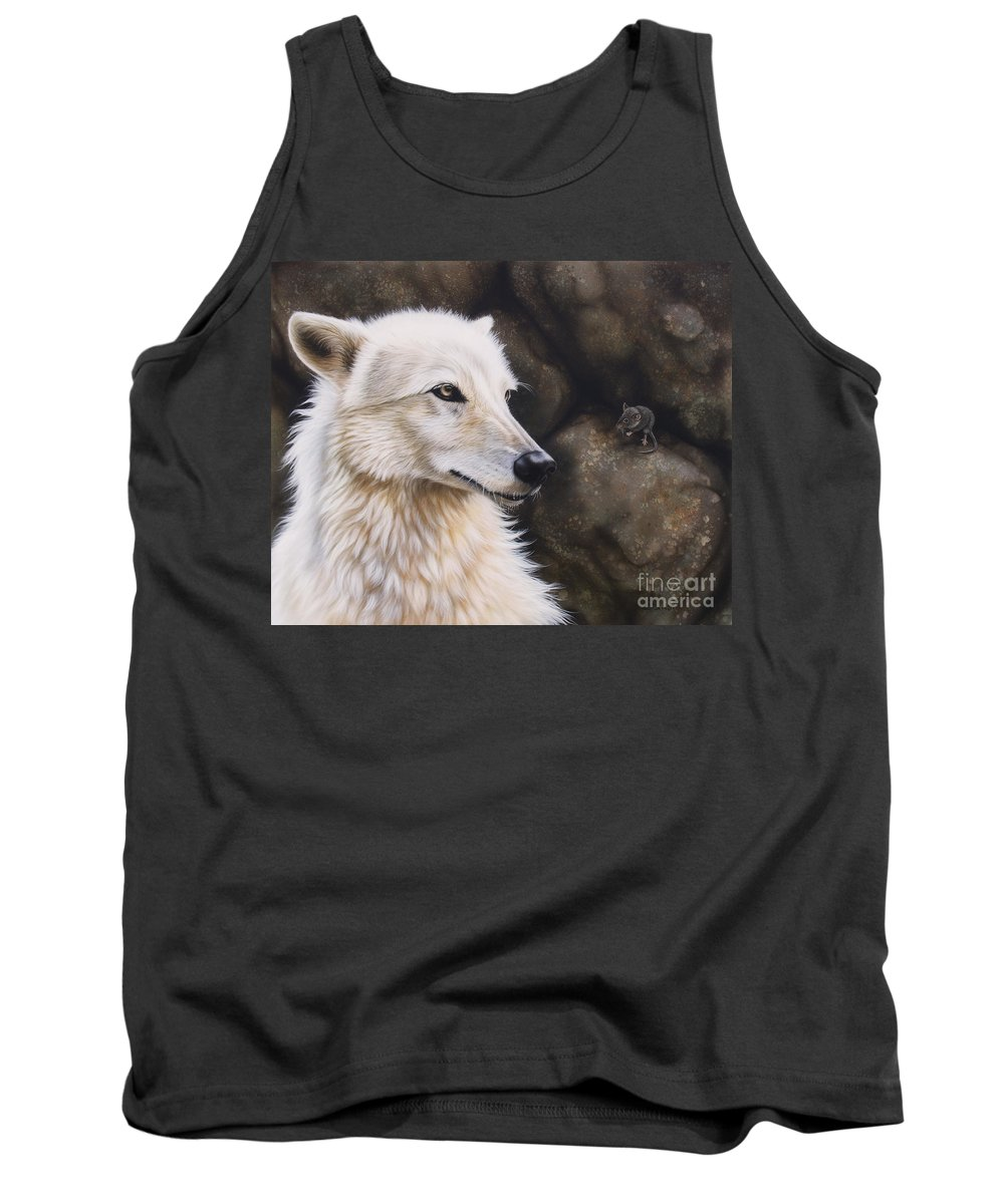 Acrylic Tank Top featuring the painting The Mouse by Sandi Baker