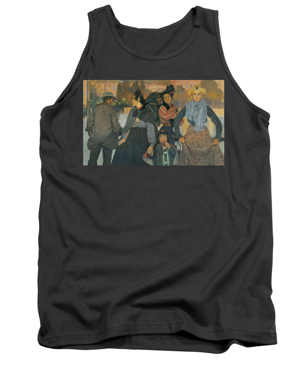 Anselmo Guinea Tank Top featuring the painting The Origins Of The Modern In Basque by Anselmo Guinea