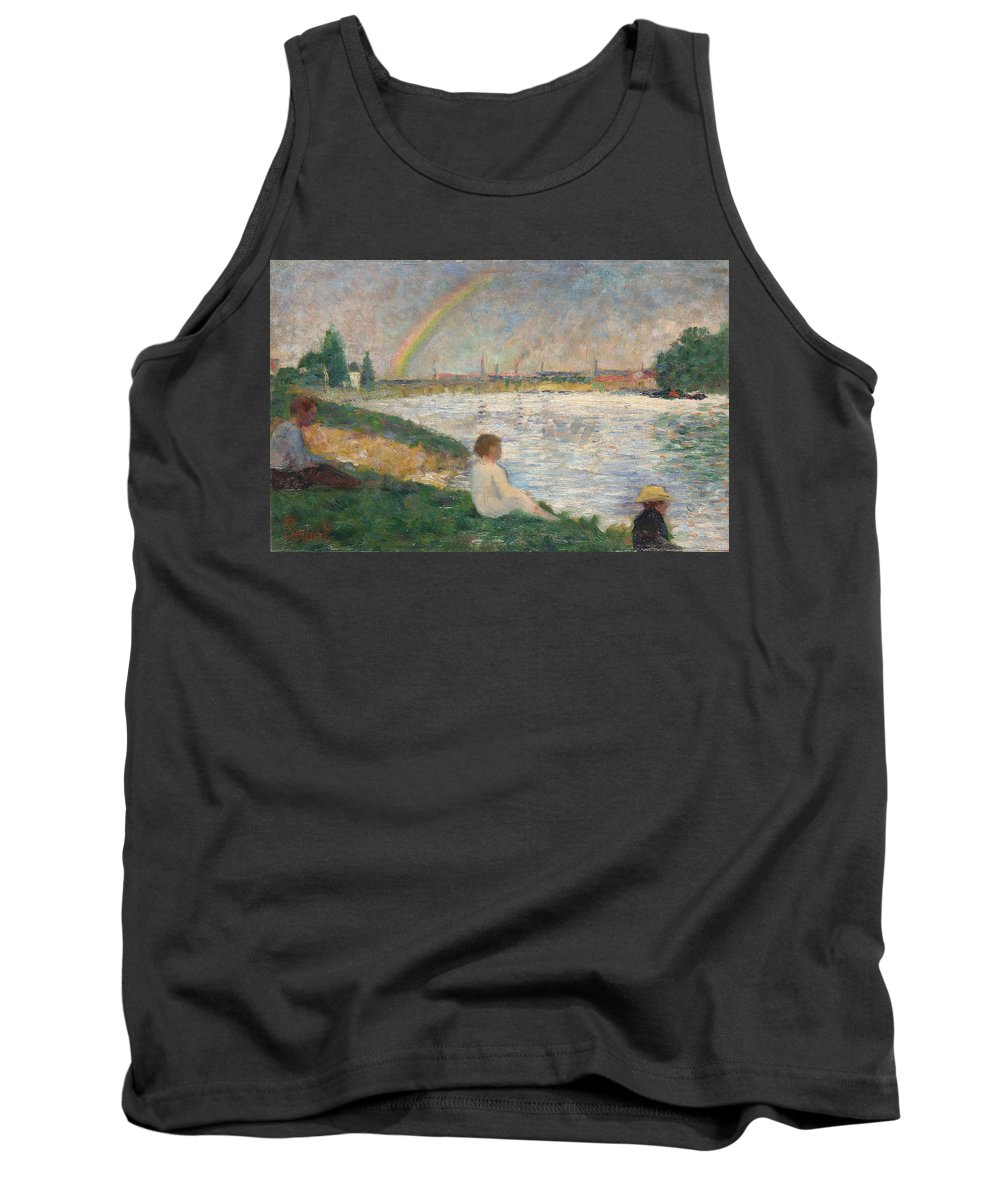 Lake Tank Top featuring the painting The Rainbow by Georges Seurat
