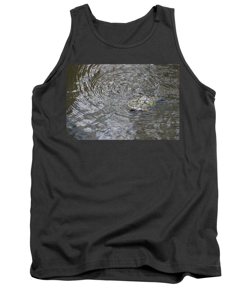 Water Tank Top featuring the photograph The Swimming Turtle by Rob Hans