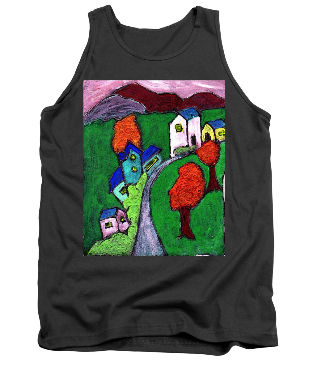 Whimsical Tank Top featuring the painting There Was A Crooked House by Wayne Potrafka