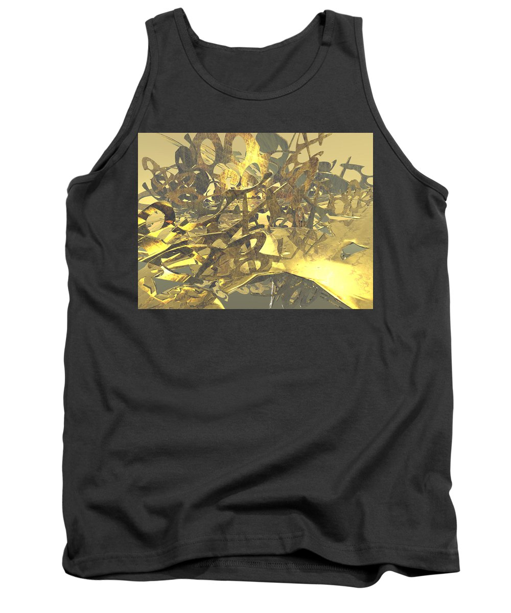 Scott Piers Tank Top featuring the painting Urban Gold by Scott Piers