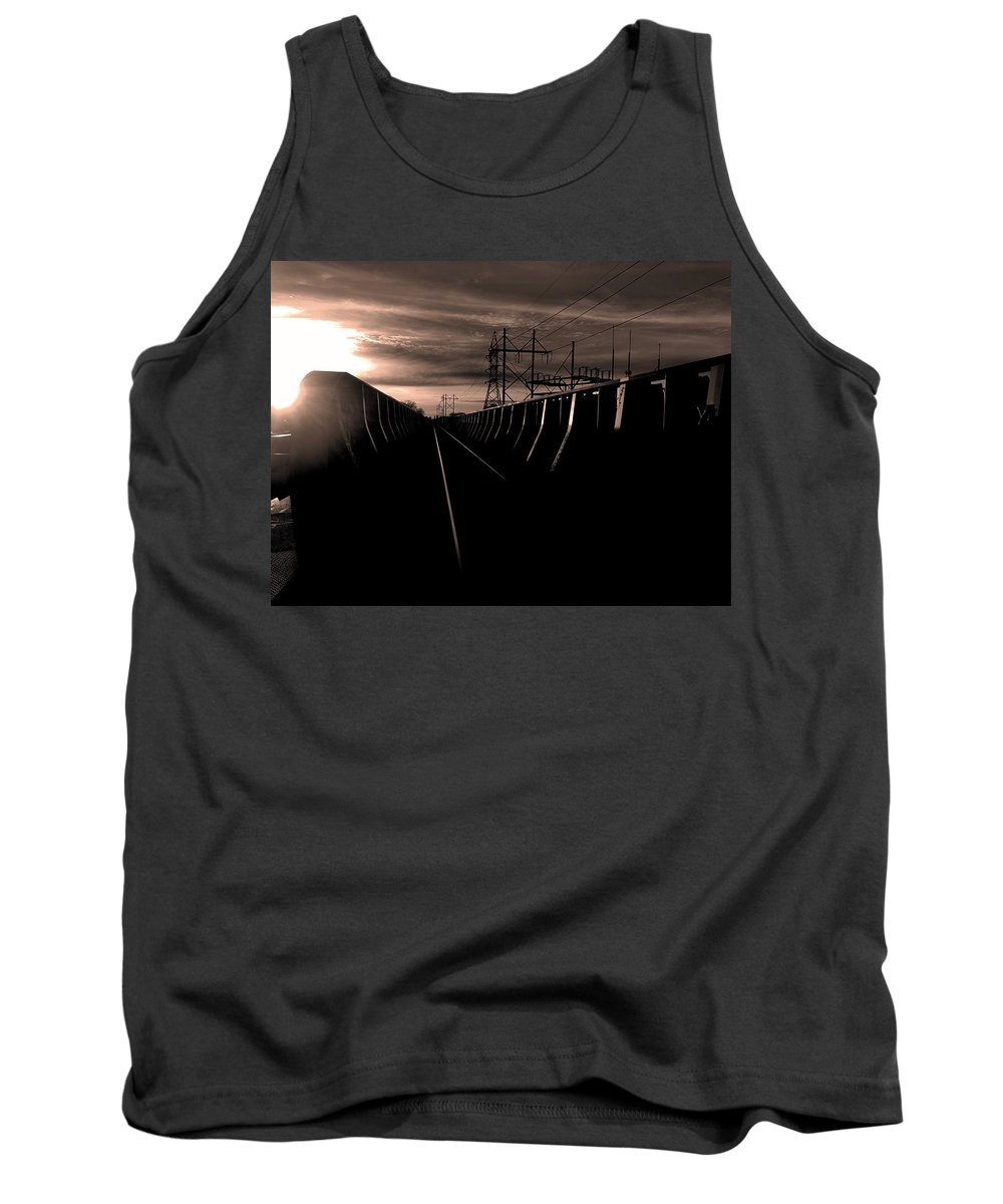 Sunset Tank Top featuring the photograph Vanishing #2 by Julian Grant