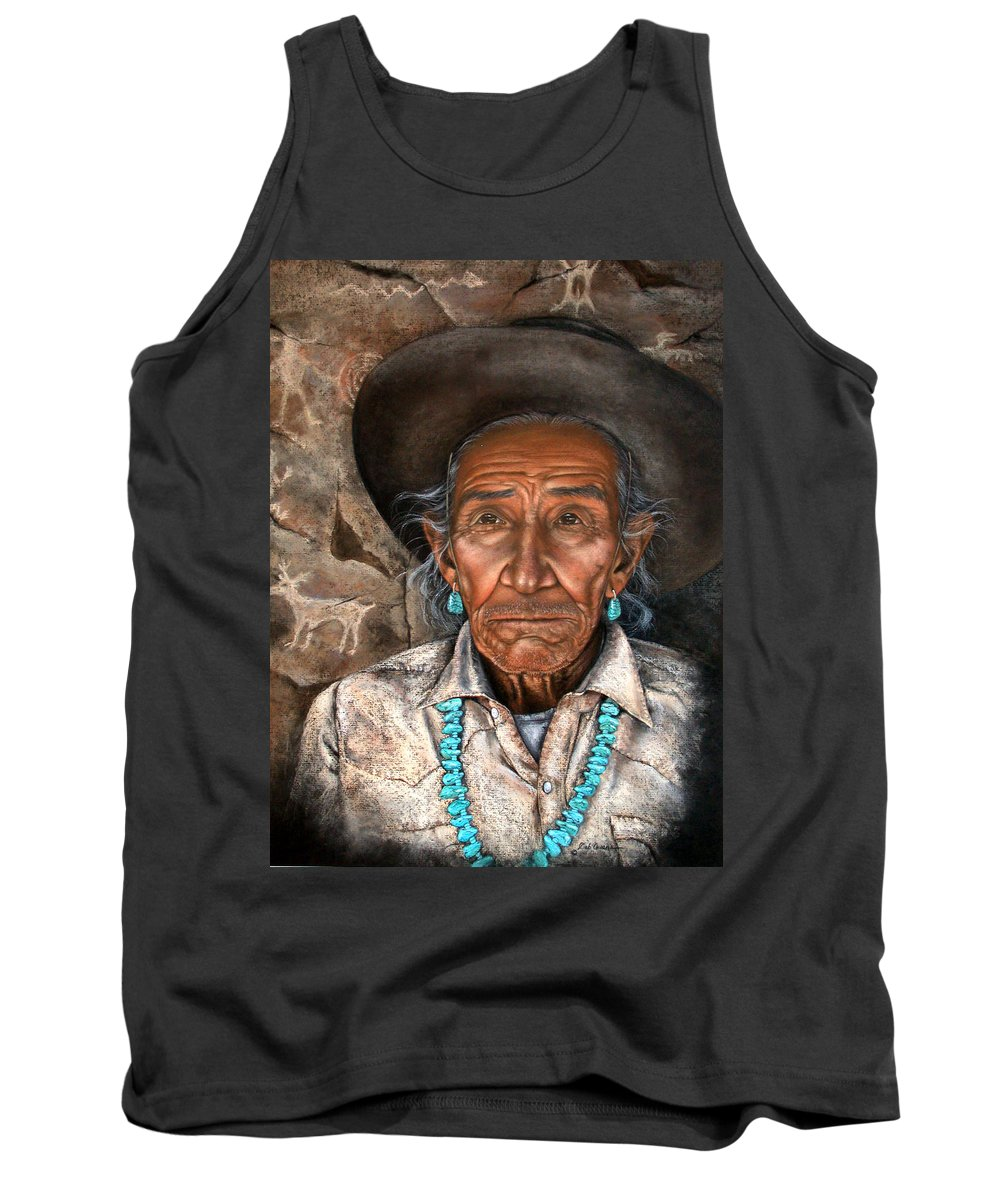 People Tank Top featuring the painting Vision Of The Past by Deb Owens-Lowe