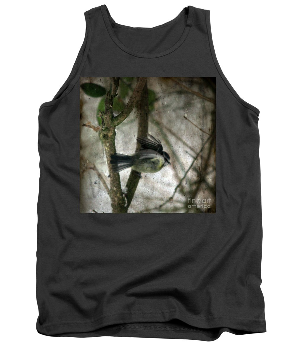Blue Tit Tank Top featuring the photograph Waiting For Spring by Angel Ciesniarska