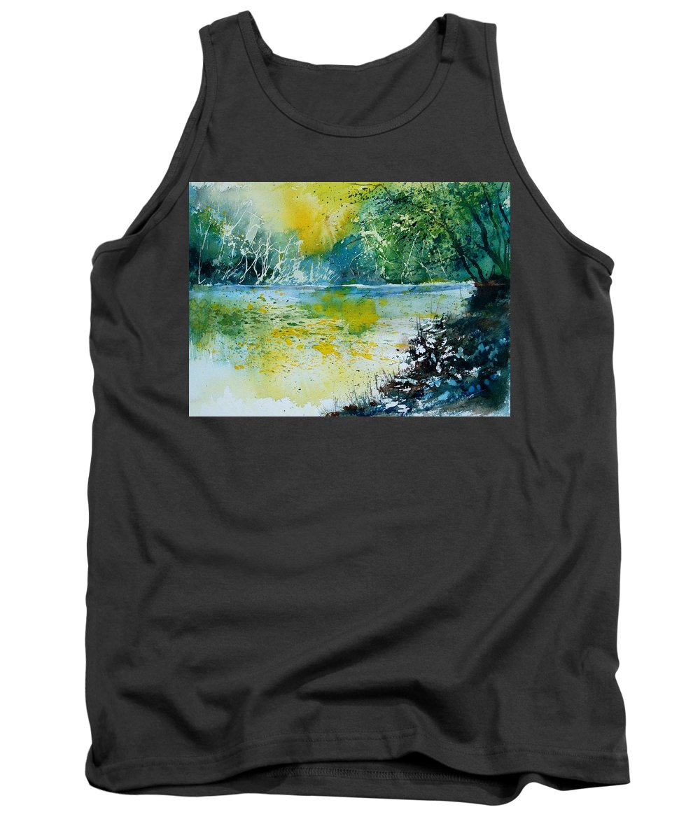 Water Tank Top featuring the painting Watercolor 051108 by Pol Ledent