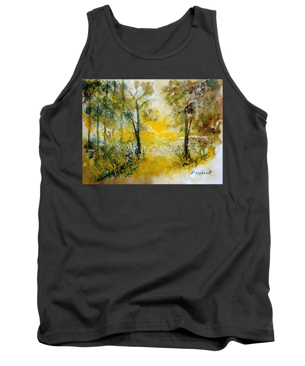 Tree Tank Top featuring the painting Watercolor 210108 by Pol Ledent