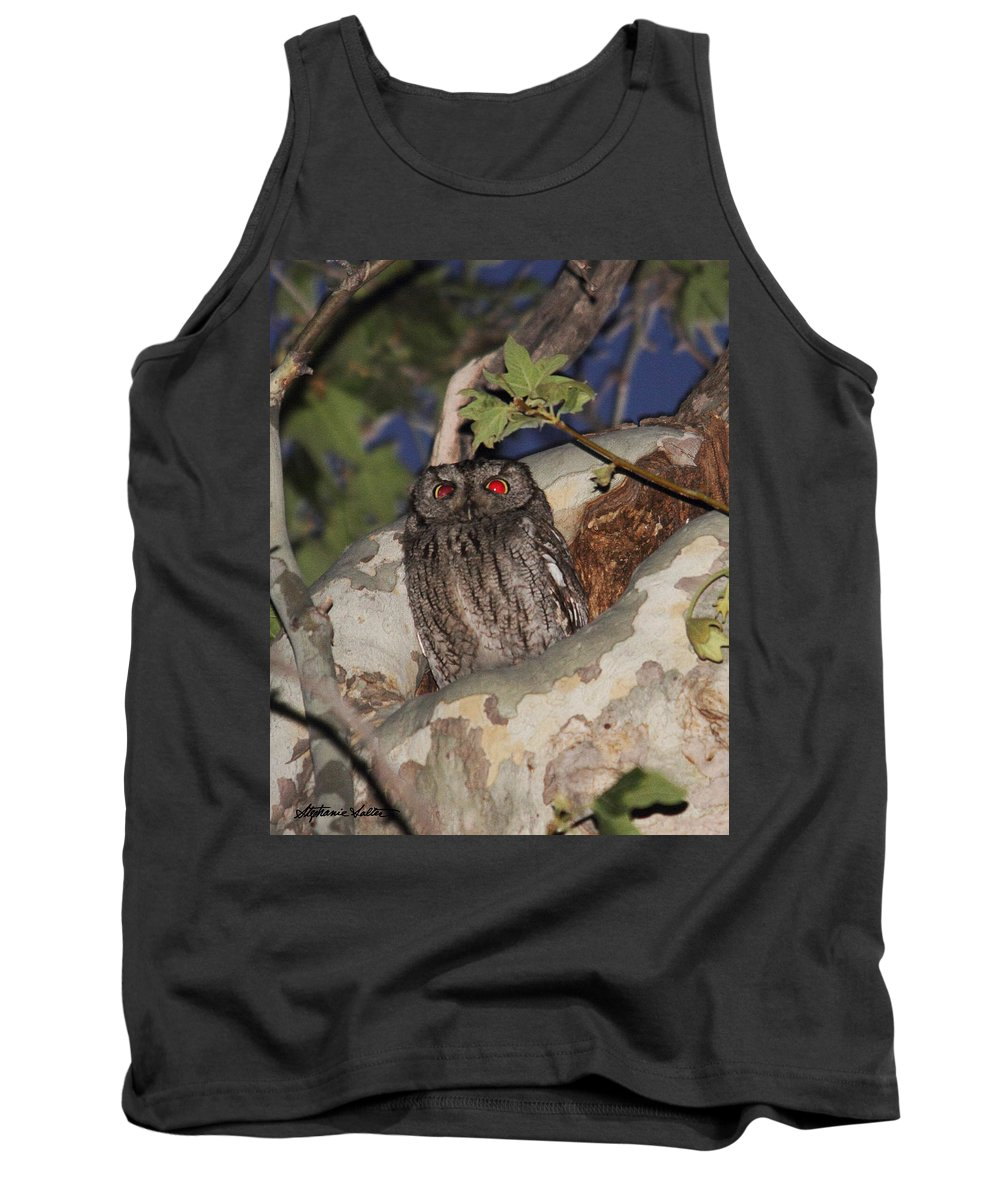 Nature Tank Top featuring the photograph Western Screech Owl by Stephanie Salter