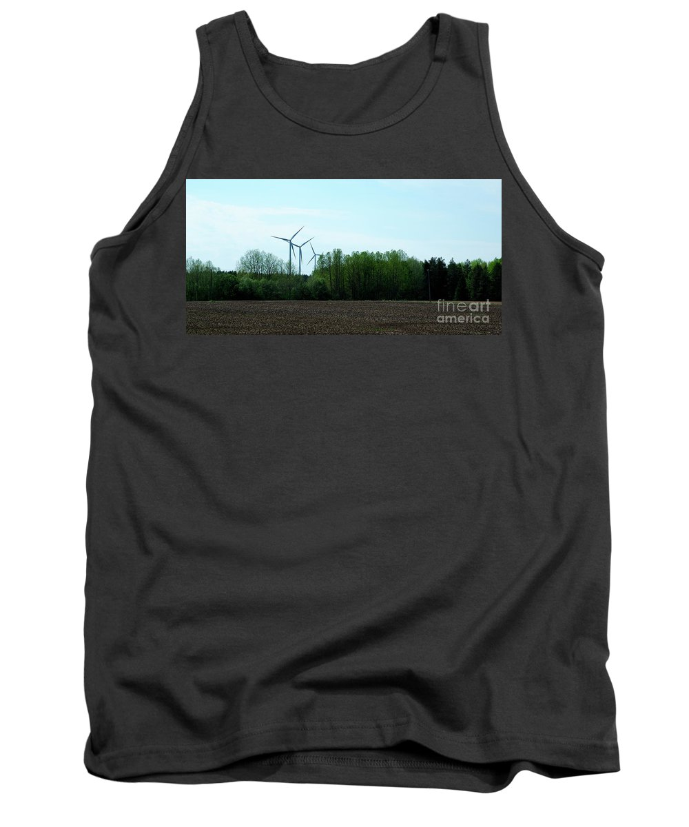 Windmills Tank Top featuring the photograph Wind Power by Esko Lindell