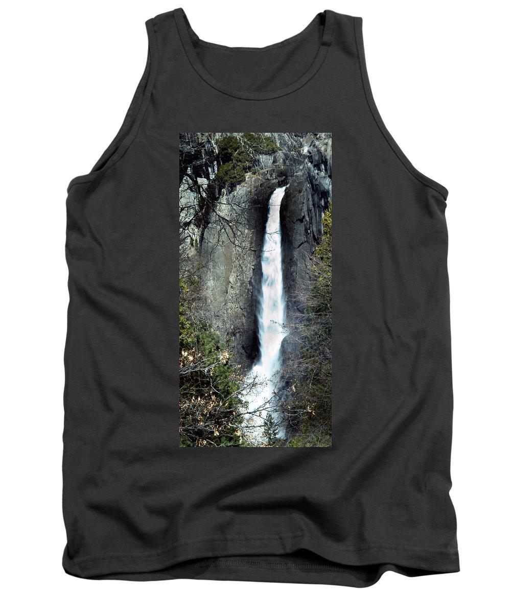 California Scenes Tank Top featuring the photograph Yosemite Bridal Veil Falls by Norman Andrus