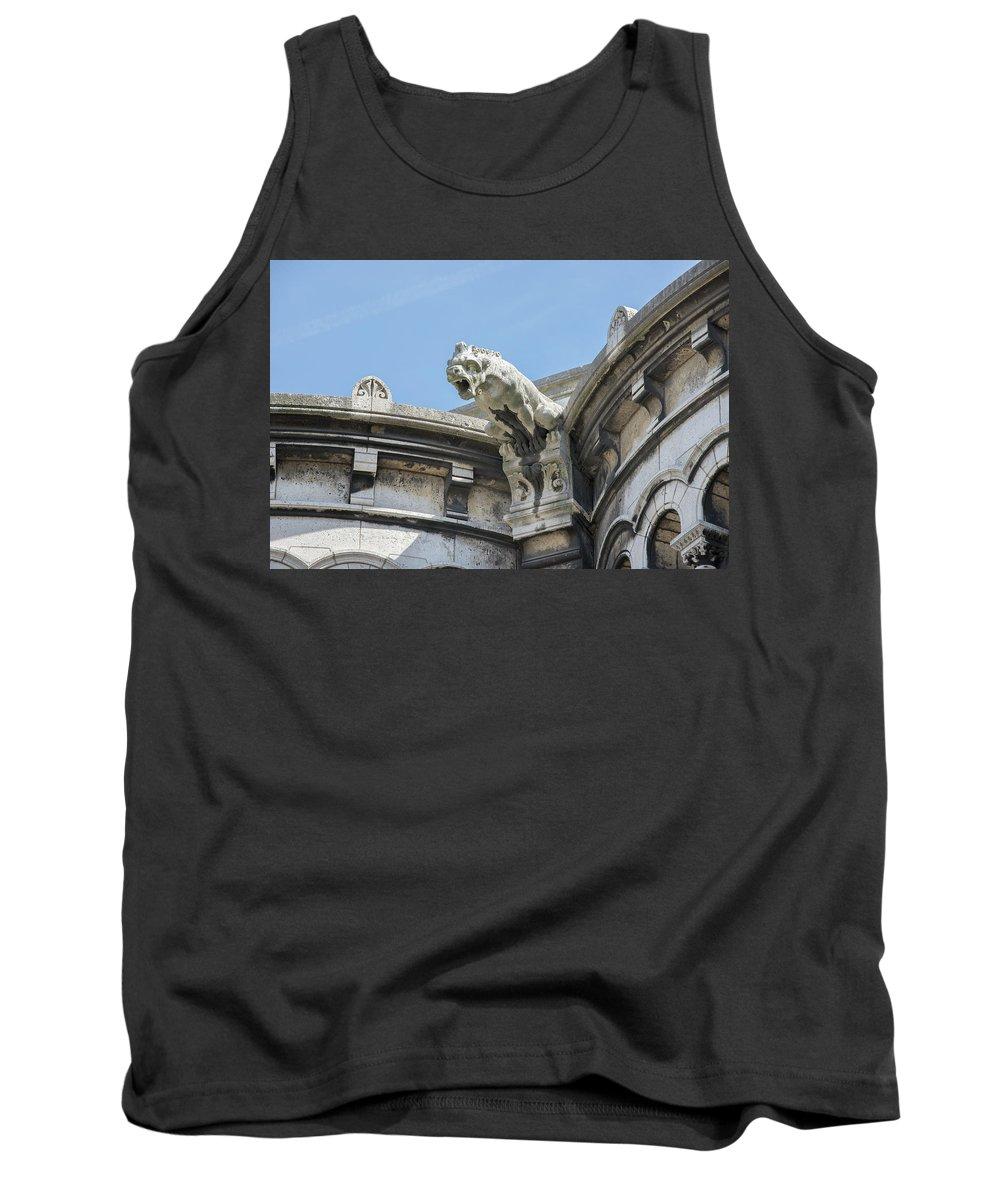 Cathedral Tank Top featuring the digital art Basilica Du Sacre-coeur De Montmartre by Carol Ailles
