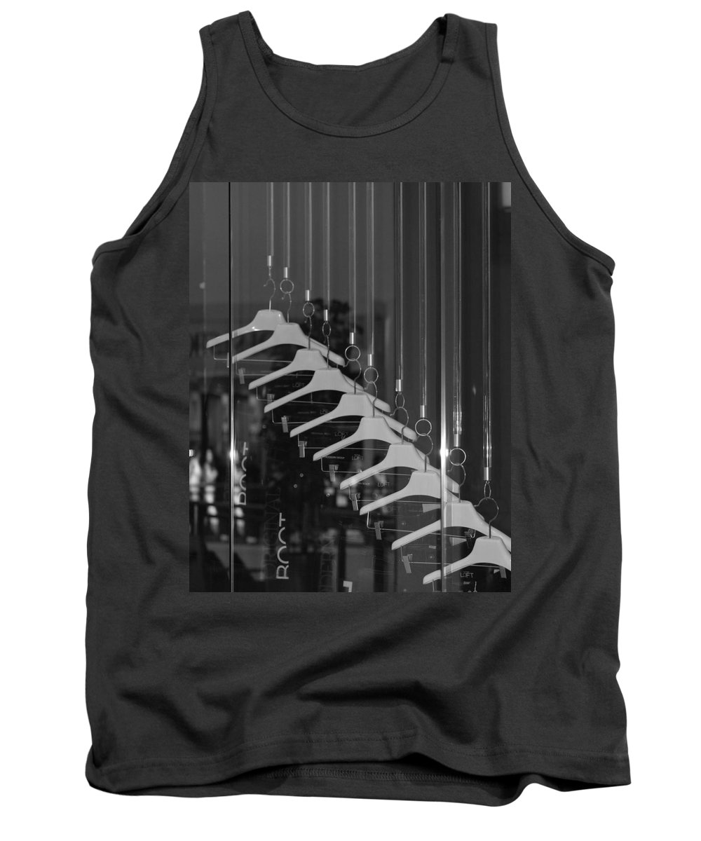 Hangers Tank Top featuring the photograph 10 Hangers In Black And White by Rob Hans