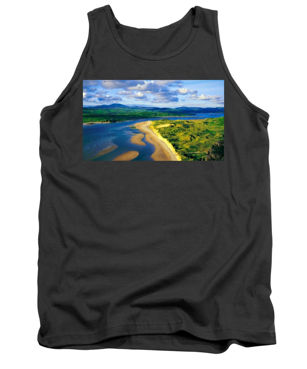 Landscape Tank Top featuring the digital art Nurture Nature by Usa Map