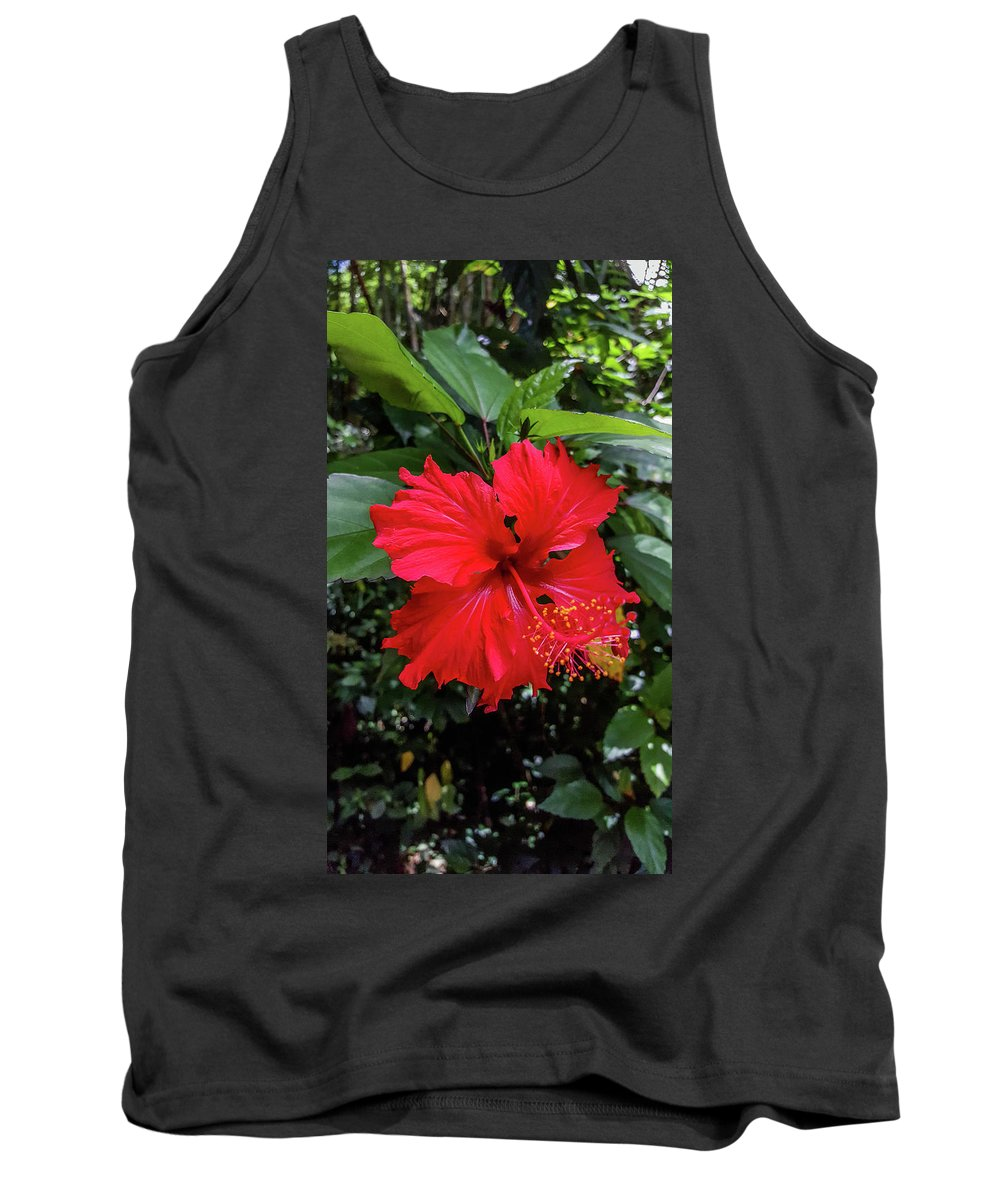 Red Hibiscus Tank Top featuring the photograph The El Yunque National Forest, Puerto Rico by Nicole Badger