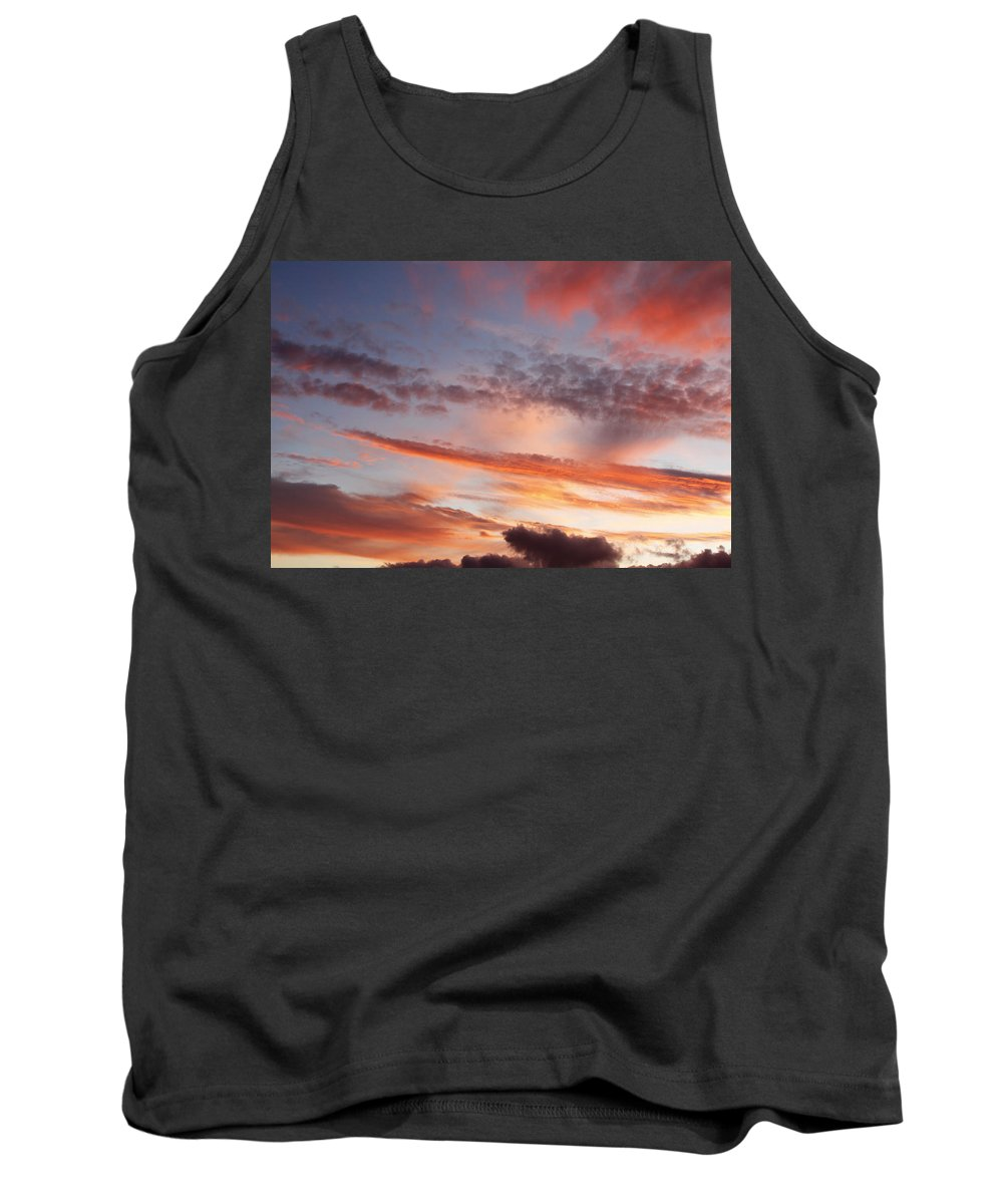 Beautiful Tank Top featuring the photograph Summer Sky by Les Cunliffe