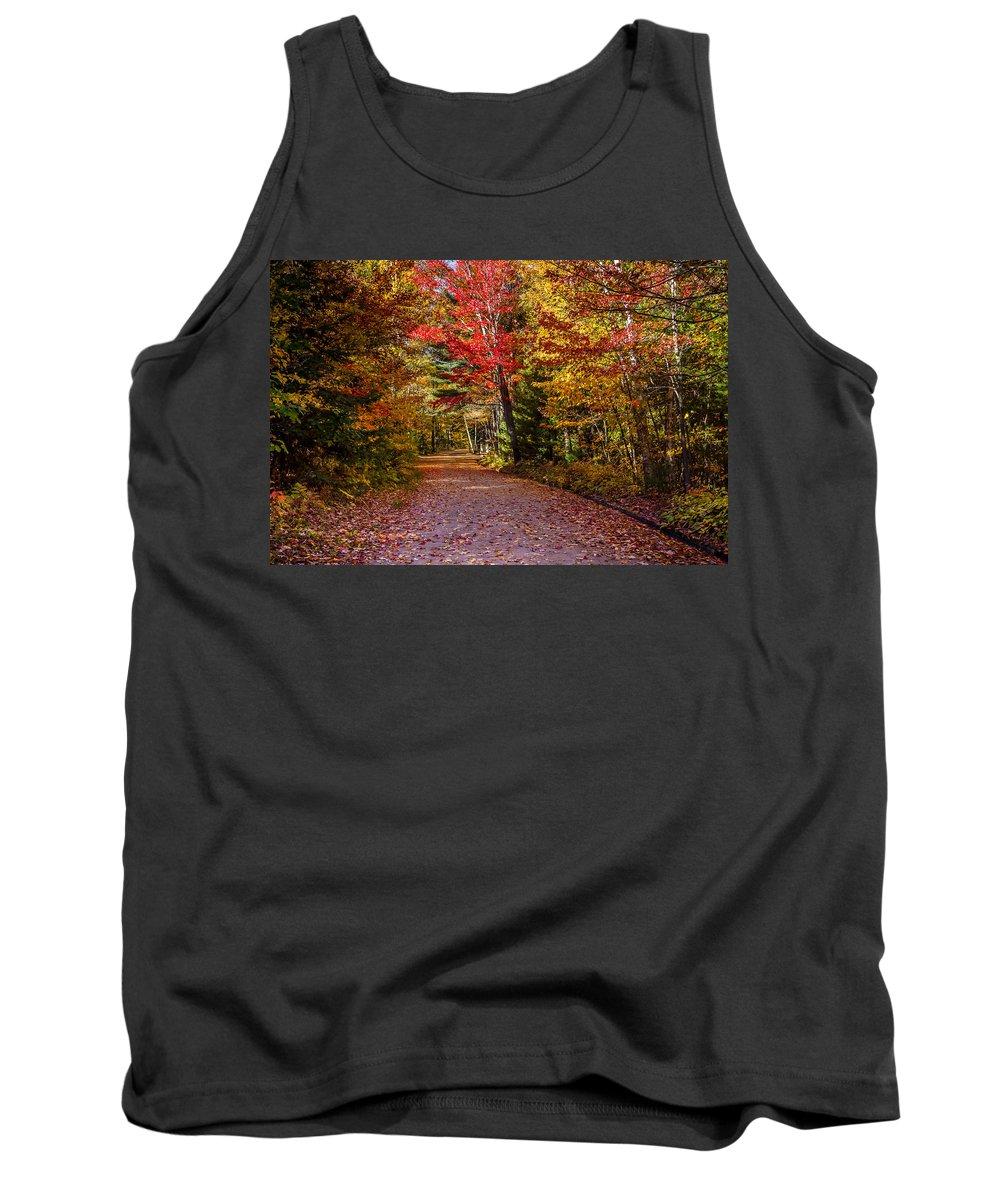 America Tank Top featuring the photograph Autumn Season In Killarney by Aqnus Febriyant
