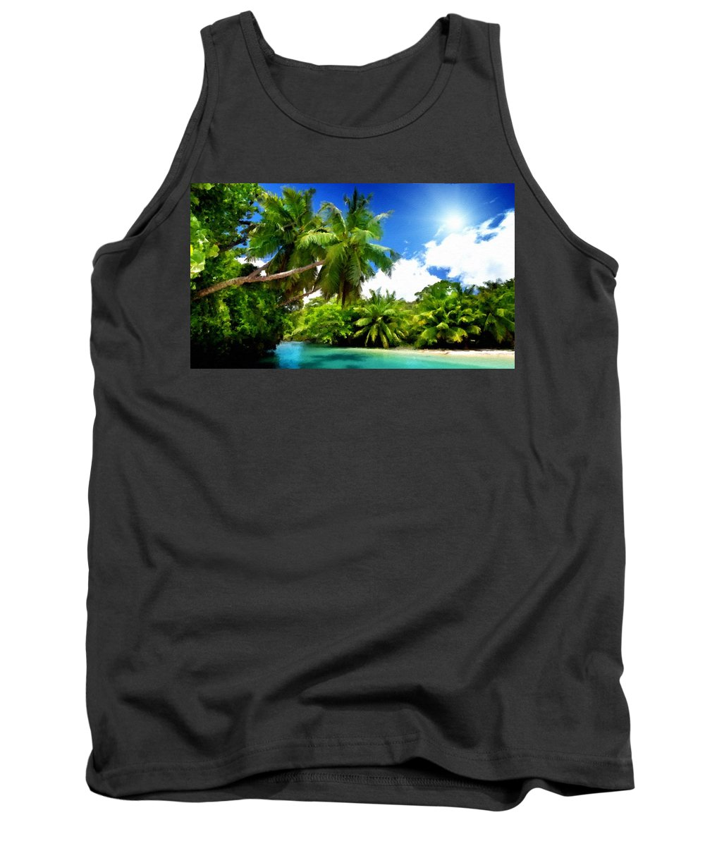 Painters Tank Top featuring the digital art F G Landscape by Usa Map