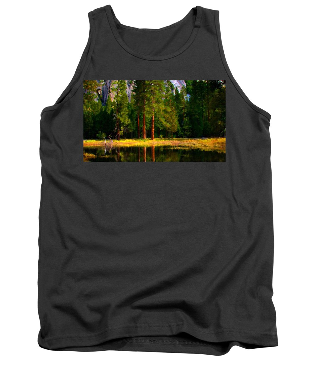 Beautiful Tank Top featuring the digital art Landscape Poster by Usa Map