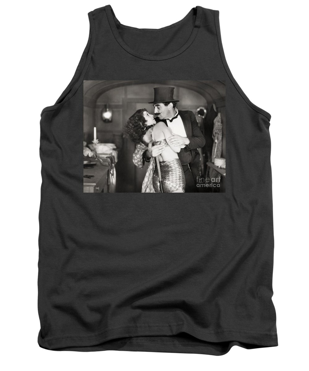 1920s Tank Top featuring the photograph Silent Still: Man & Woman by Granger