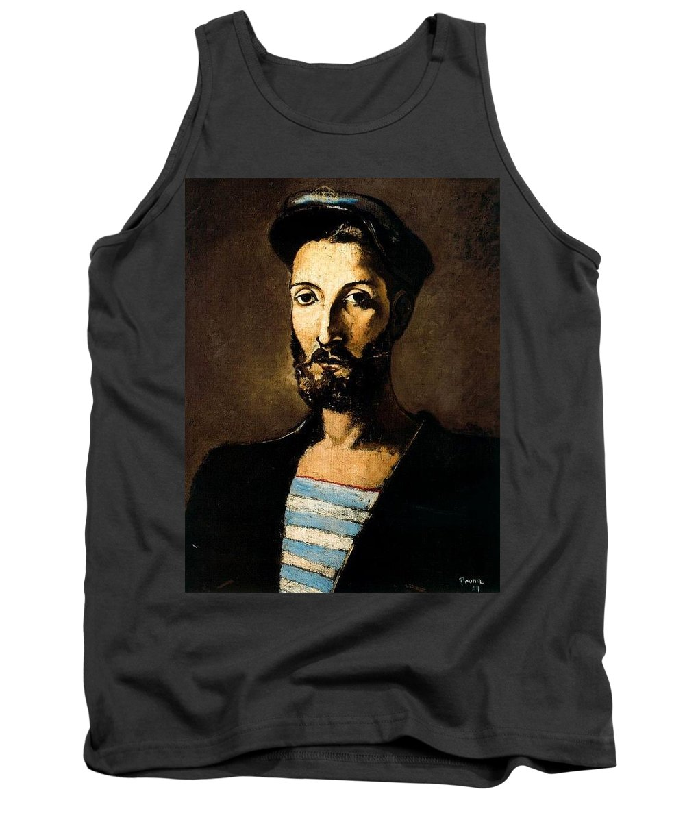 Mask Tank Top featuring the digital art 13618 Pere Pruna by Eloisa Mannion