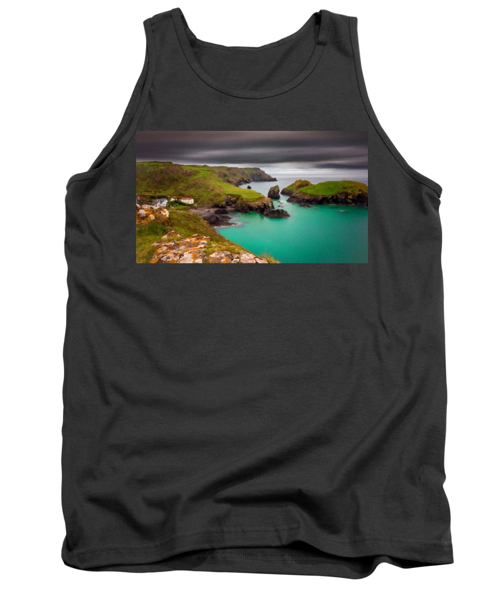 Landscape Tank Top featuring the digital art Landscape Painting Acrylic by Usa Map