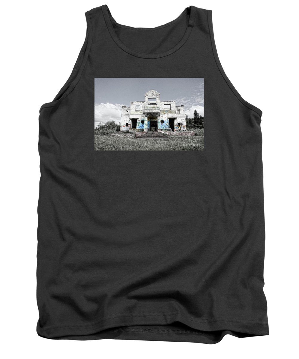 Graffiti Tank Top featuring the photograph Msc by Caddelle Faulkner