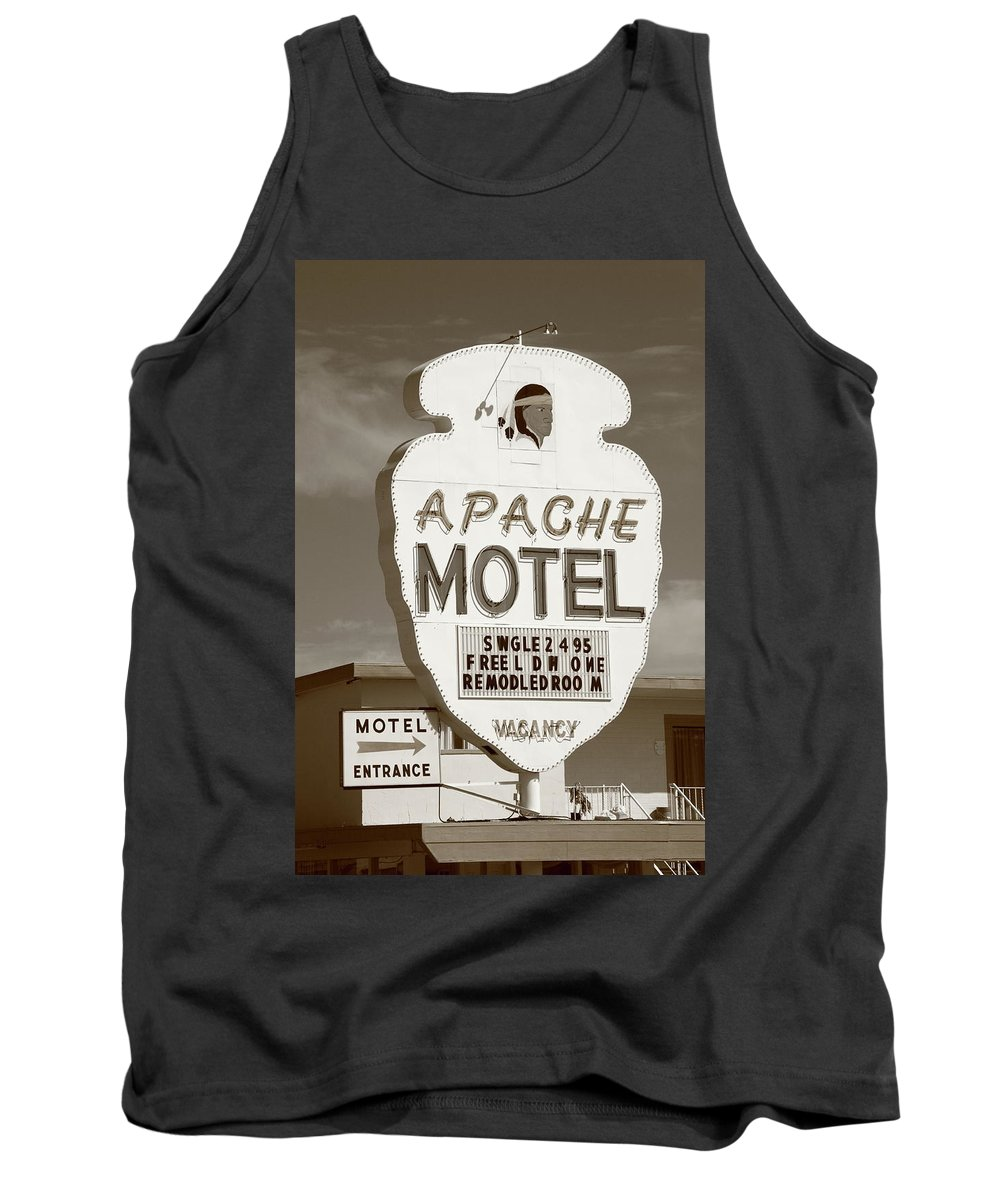 66 Tank Top featuring the photograph Route 66 - Tucumcari New Mexico by Frank Romeo